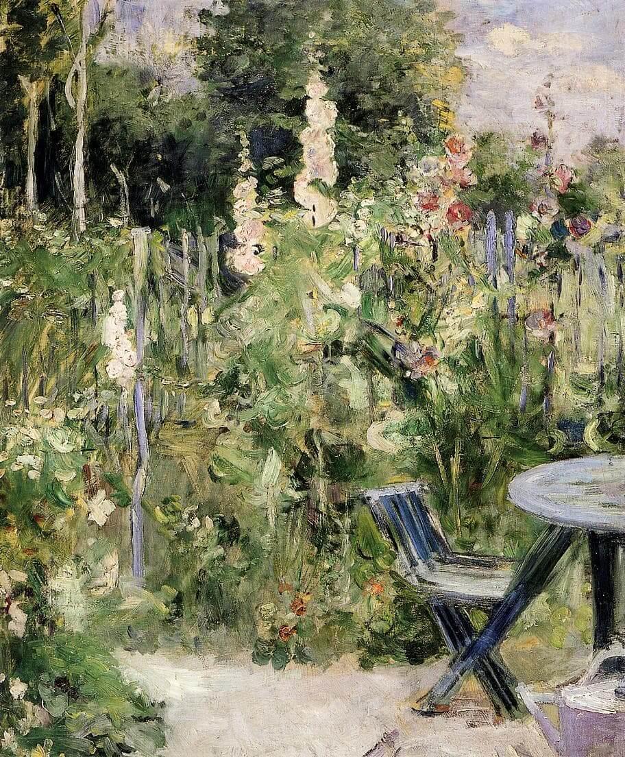 """Roses Tremieres"" por Berthe Morisot"